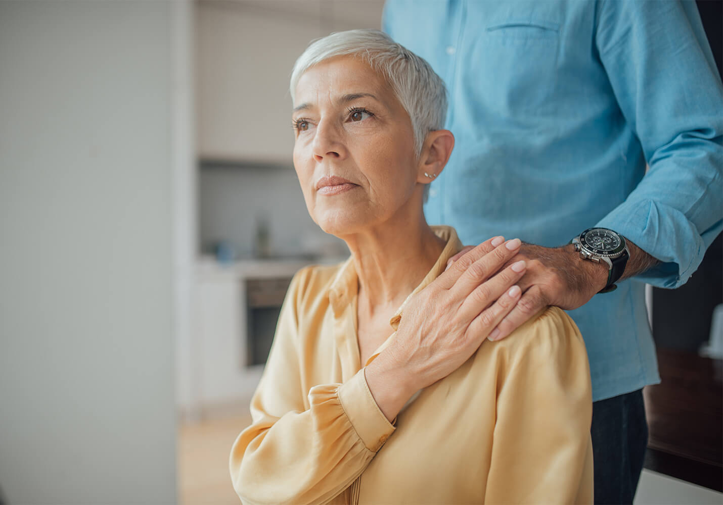 Concerned woman being comforted